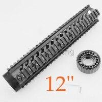 ציד אבזרים טקטי 12 inch AR15 M4 M16 Handguard Picatinny צינור עבור רובה ירי פיינטבול