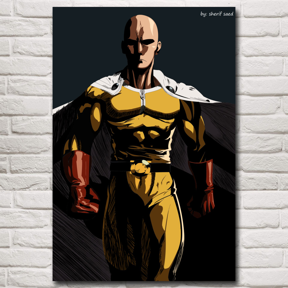 japanese anime one punch man art silk poster prints living room