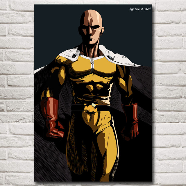 Japanese Anime ONE PUNCH MAN Art Silk Poster Prints Living Room Home Decor Pictures 12×18 16X24 20×30 24×36 Inches Free Shipping