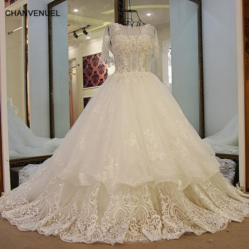 Ls59678 Sparkly Wedding Dresses Lace Up Back Ball Gown
