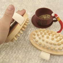 Hand-Held Wooden Anti-Cellulite Brush
