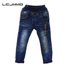 LCJMMO 2017 New spring autumn kids jeans Baby boys casual jeans children trousers baby pants retail size 2-7years