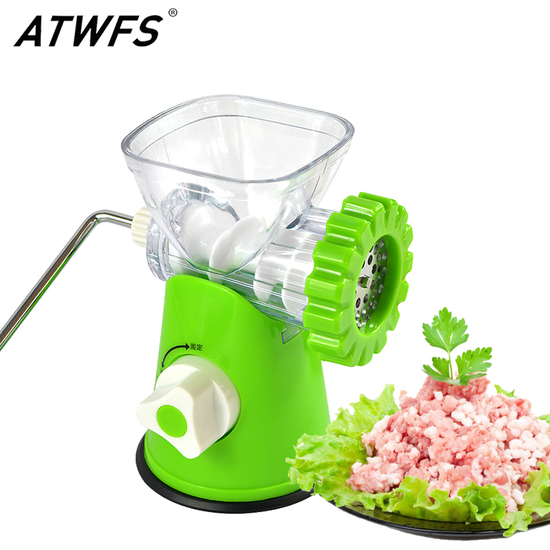 Multifunction Manual Meat Grinder Household Stainless Steel Meat Grinders Cutter Cooking Machine Mincer Sausage Machine stainless steel electric meat grinder ry 22 commercial copper motor mincer high power meat filling machine sausage machine