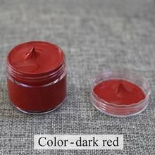 Piel pintura de color rojo oscuro utilizada especialmente para pintar sofá de cuero, bolsas, zapatos y ropa Etc con buen efecto 30ml envío gratis