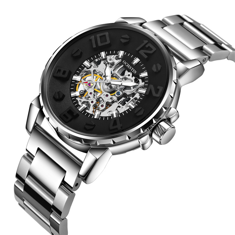 OCHSTIN Automatic Mechanical Men Watch Top Brand Luxury Stainless Steel Mens Watches Military Army Sport Skeleton Male Clock Hot hot 2016 carnival luxury brand sport men automatic skeleton watch mechanical military watch men full steel stainless band reloje