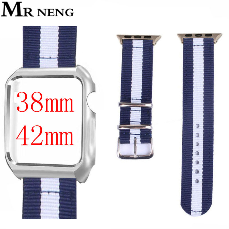 Newest Woven Nylon Band Watchband For Apple Watch 3 42mm 38mm fabric-like strap For iwatch 3/2/1 wrist band nylon watchband belt mu sen woven nylon band strap for apple watch band 42mm 38 mm sport fabric nylon bracelet watchband for iwatch 3 2 1 black