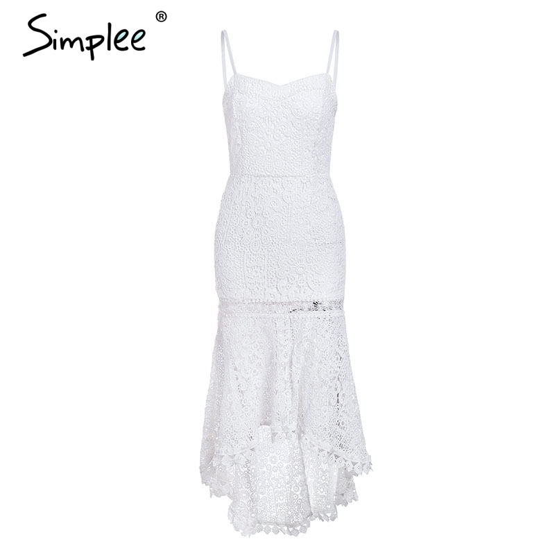 CUERLY Adjustable strap backless hollow out sexy dress Plus size fishtail lace women dress Autumn winter slim long party dress in Dresses from Women 39 s Clothing