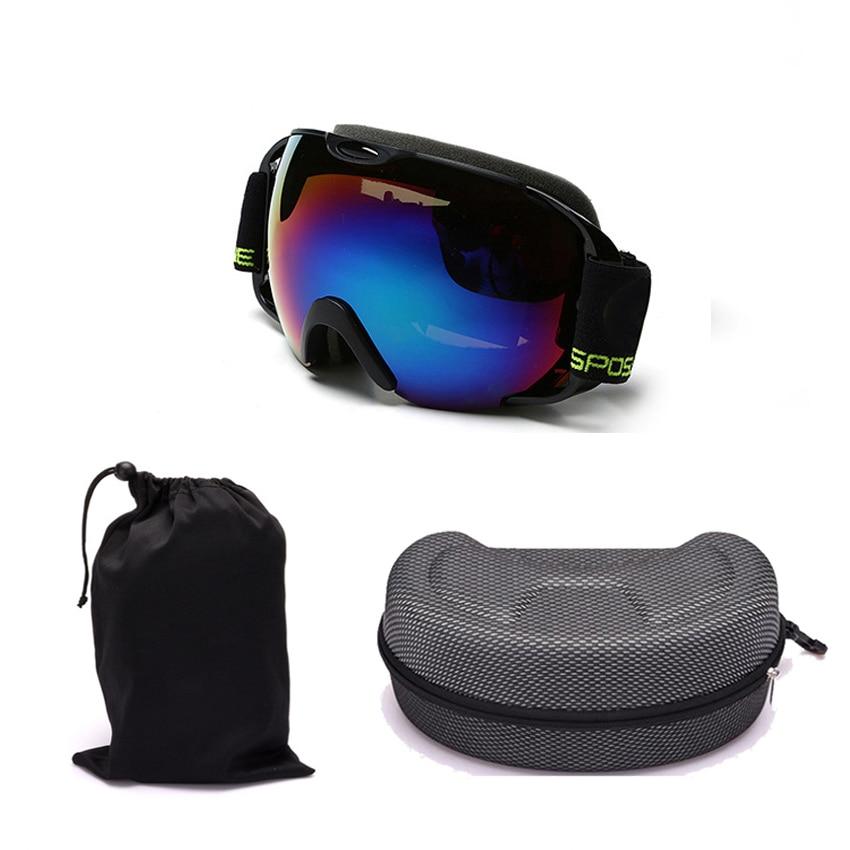 Professional upmarket ski glasses ski goggles double layers UV400 anti-fog big ski mask glasses skiing snowboard goggles box-07
