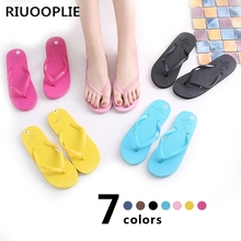 цена на RIUOOPLIE Summer Women Girls Flip Flops Shoes Women US Soft Leisure Sandals Beach Slipper Indoor & Outdoor Sandals Flip-flops