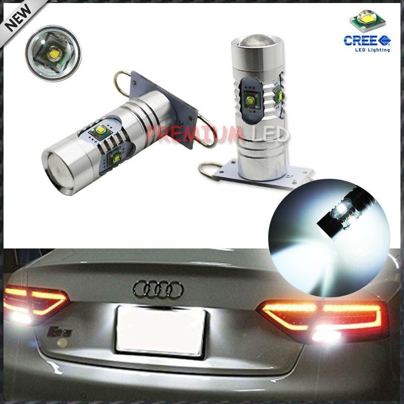 2pcs High Power 25w CRE'E PW16W PH16W LED Bulbs For 2010-up Audi A7 S7 RS7 Backup Reverse Lights