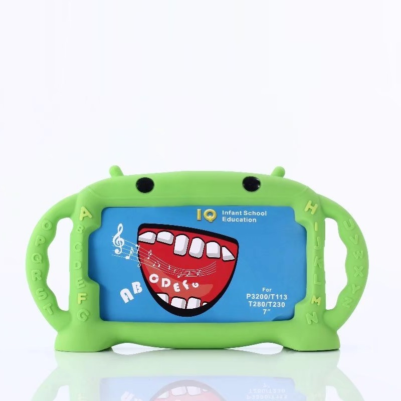 3D Shockproof Kids Cartoon Silicone Case For Samsung Galaxy Tab 3 4 7.0 Lite 7.0 SM-T113 T230 T280 P3200 Tablet Skin Case Covers