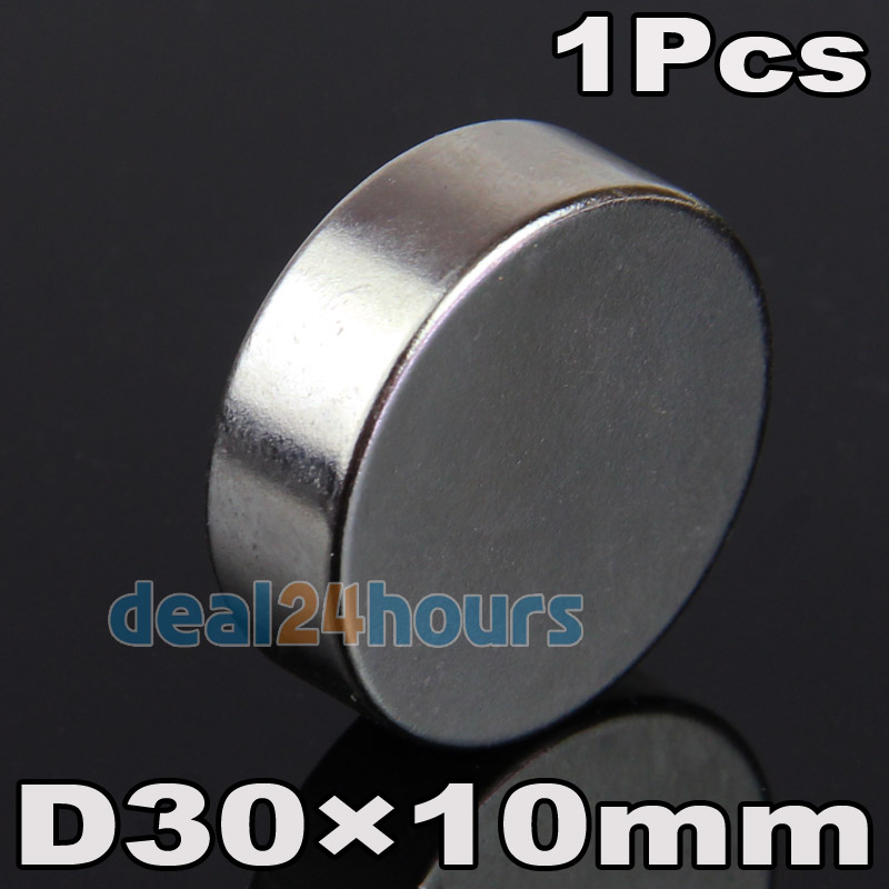 OMO Magnetics 1PC Big Super Strong Magnets Round Disc 30mm x 10mm Cylider Rare Earth Neodymium N35 Craft Models