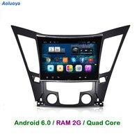 Aoluoya Оперативная память 2 г Android 6.0 Автомагнитола DVD GPS плеер для Sonata 8 YF i40 i45 i50 2011 2012 2013 2014 2015 стерео аудио-видео WI-FI