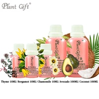 100% Pure Plant Essential Oils Thyme / Bergamot / Chamomile / Avocado / Coconut Oil Spanish Imports Antibacterial Help Digestion