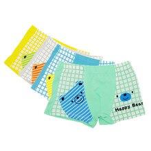 1bebba23e 12 Unidades pacote 100% Algodão Crianças Cueca Boxer Shorts de Bebê Das  Meninas Dos Meninos Dos Desenhos Animados Urso Menino Me.