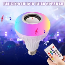 Bluetooth Led RGB Speaker+12W RGB Bulb LED Lamp e27 Smart Led Light Music Player Audio with 24 keys Remote Control phone speaker led bluetooth speaker led light speaker led