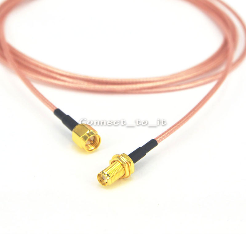 цена на SMA Adapter SMA Plug Male to SMA Female Jack Coaxial Connector Extension Pigtail Cable Cord RG316 2M