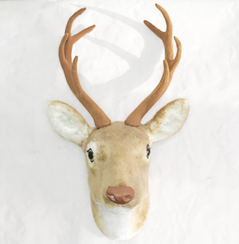 free shipping by UPS fast shipping  removable art and craft perfect handmade animal deer head for wall decoration