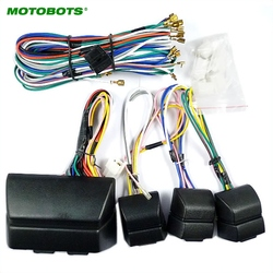 Motobots 1Set Universal untuk Auto 4 Pintu Mobil Jendela 8 Pcs Switch dengan Pemegang dan Kawat Harness # AM2469