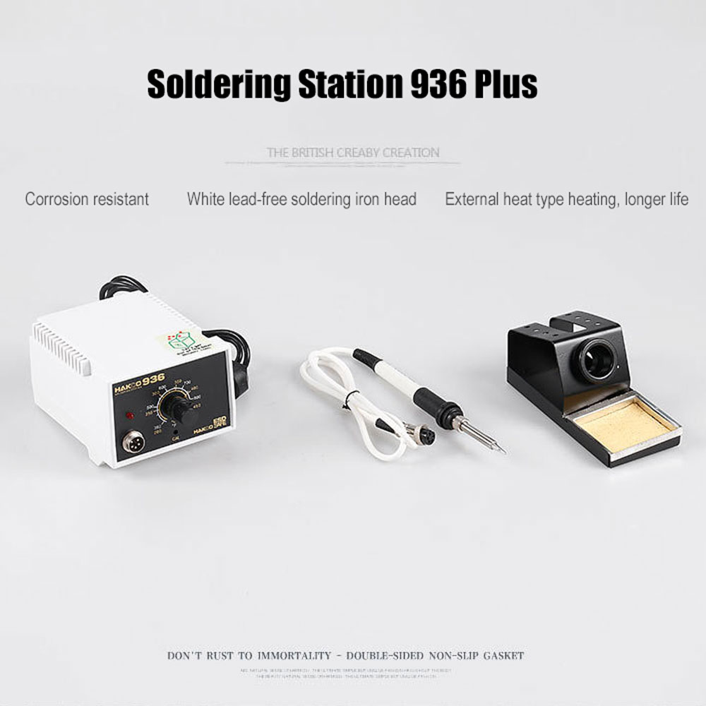 60W 220V 936 Plus Version Anti-static Adjustable Temperature Control ESD Soldering Station Rework Stations Tools EU UK Plug