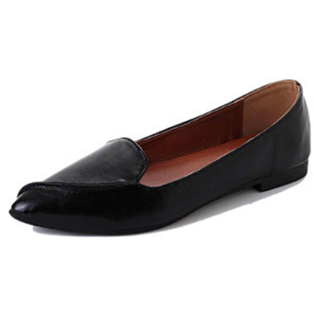 Spring Summer Ladies Ballerinas Dolly Shoes Pointed Toe PU Leather Women Ballet Flats Plus Size Female Moccasins Womens Loafers baiclothing women casual pointed toe flat shoes lady cool spring pu leather flats female white office shoes sapatos femininos