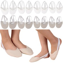 Half Faux Leather Sole Ballet Pointe Dance Shoes Rhythmic Gymnastics Slippers W15(China)