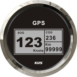 New KUS Boat GPS Speedometer Digital LCD Speed Gauge SOG COG Knots Compass with GPS Antenna 85mm Marine Truck Car Motorcycle