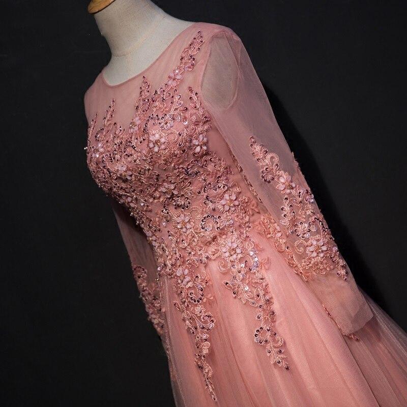 Trend lengan panjang renda gaun malam majlis elegan majlis wanita - Gaun acara khas - Foto 3