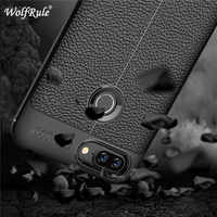 "WolfRule caso Lenovo S5 cubierta a prueba de golpes a prueba de cuero de lujo TPU caso para Lenovo S5 teléfono Fundas Lenovo Vibe S5 Coque K520 para 5,7"""
