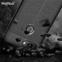 Wolfrule caso lenovo s5 capa à prova de choque de couro de luxo tpu caso para lenovo s5 telefone fundas lenovo vibe s5 coque k520 para 5.7