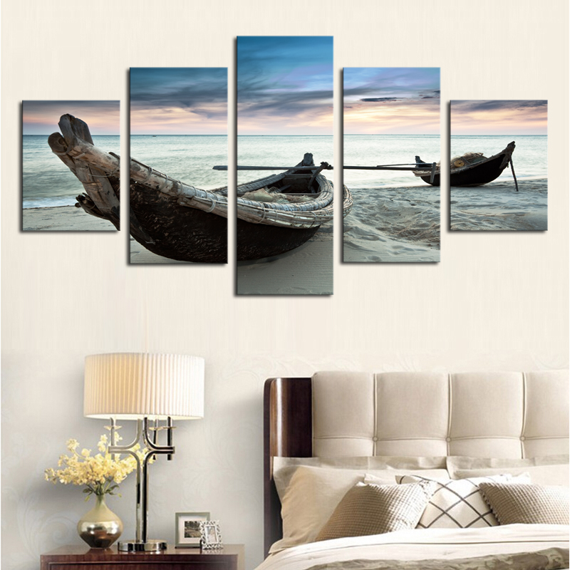 unframed 5 piece the ocean ship seascape modern home wall decor canvas picture art hd print