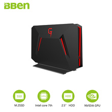 Bben DESKTOP mini computer fast boot quad core I7-7700HQ NVIDIA GEFORCE GTX1060 8GB/16GB RAM 128GB/256GB option 1TB HDD option