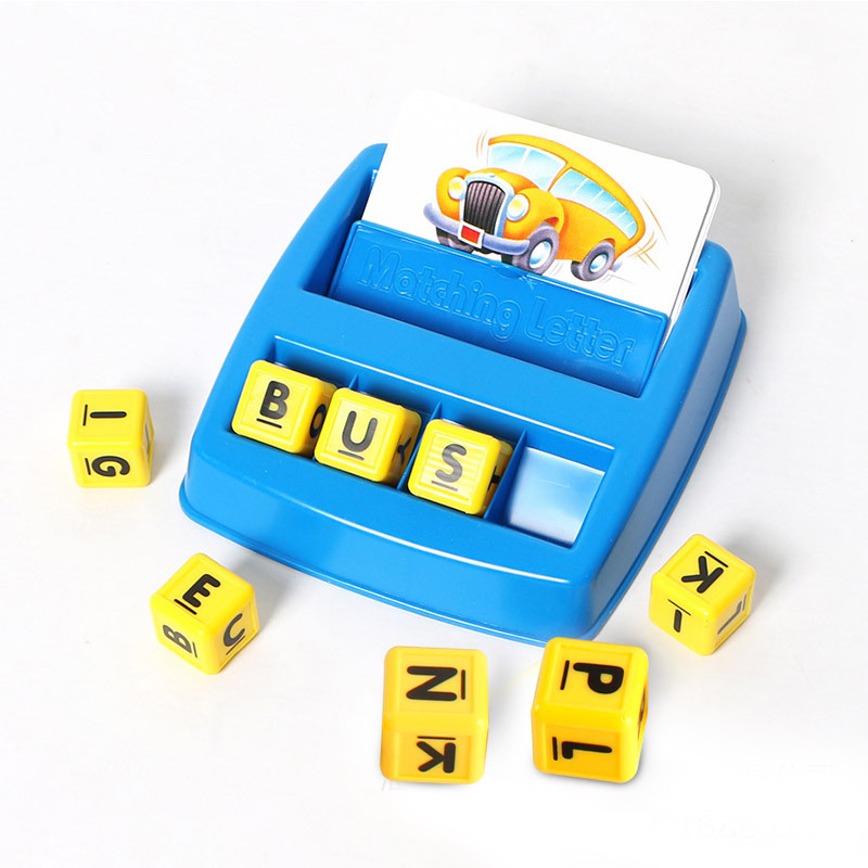 Teach Toys To Memorize Words Easily Alphabet Matching Game Happy Learning English Puzzle Toys Early Educational Toys Gifts