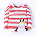 Spring  Summer Baby Striped Long Sleeve T-shirt Cartoon Base Shirts Kids Sweatshirts Boy and Girl Undershirt Child Clothes