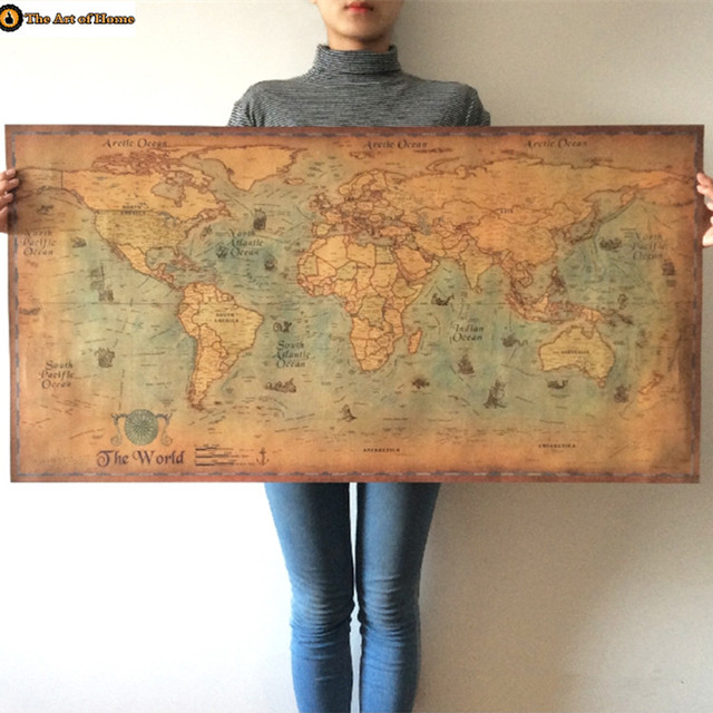 Xxl global world map poster living decoracin para el hogar papel xxl global world map poster living decoracin para el hogar papel kraft y del vintage retro gumiabroncs Choice Image