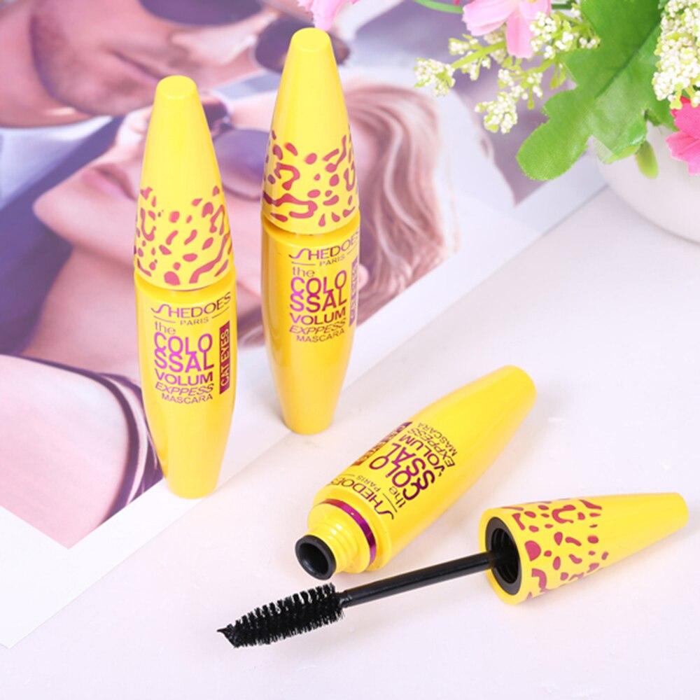 Yellow Tube Mascara 3d Mascara Fiber Lashes Thick Curling Lasting Waterproof Black Concentrated Eye Mascara Cosmetics TSLM2 5