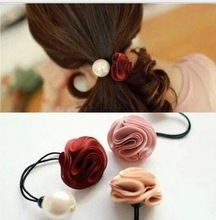 New Style flower and Simulated pearl elastic Hair bands  Headband Hair rubber for Women hair Accessories Hair Ornaments
