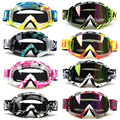 Motocicleta Motocross Dirt Bike ATV MX Goggles Gafas de Casco Racing Gafas Gafas Lente Transparente y Coloreado del Camino Ajustable
