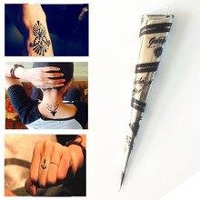 1pcs Temporary Tattoo Mini Natural Indian Tattoo Henna Paste Cone For Body Drawing Black Henna Tatuagem De Henna