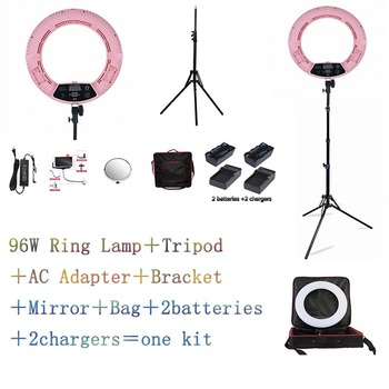 Yidoblo Pink FD-480II LED Ring lamp Light Make up Lighting sefie ring lamp set + standing (2M)+ bag + batteries