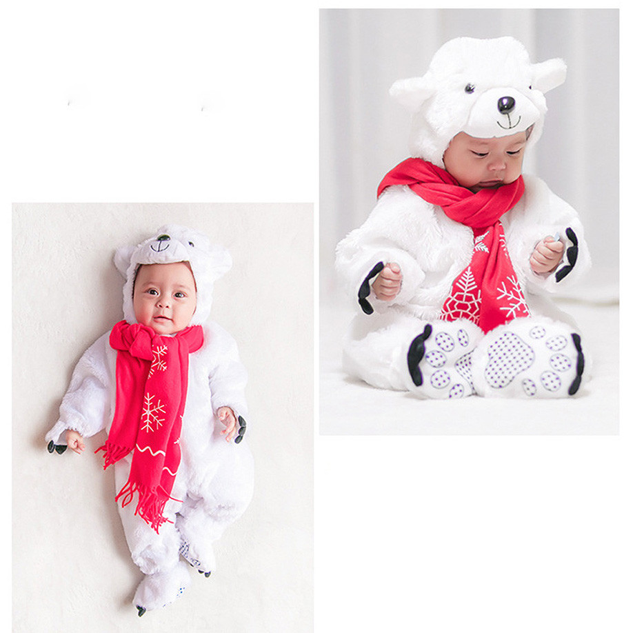 f841cae62 MUQGEW Baby newborn Polar bear Polar bear Halloween Animal Costume ...
