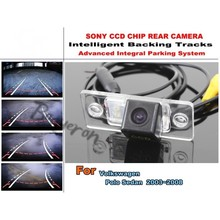 Intelligent Car Parking Camera / with Tracks Module Rear Camera CCD Night Vision For Volkswagen VW Polo Sedan 2003 ~ 2008