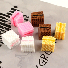 10pcs Resin Sandwich biscuit Decoration Crafts Kawaii Flatback Cabochon Embellishments For Scrapbooking DIY Accessories Butto