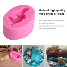 cooking tools Sleeping Baby Silicone Fondant Paste Mold Cake Decorating Polymer Clay Resin Candy Fimo Super 66x43x24mm стоимость