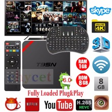 Últimas T95N Android TV Box Quad Core Amlogic S905X UHD 4 K Smart TV Box Miracast DLNA IPTV Set-top box PK X96 + Free teclado