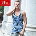 2016 горячей продажи и новый стиль Мужской жилет печати тонкий фитнес летом без рукавов Футболки 528