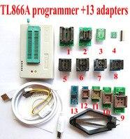 PLCC TL866 מתכנת + 13 מתאמים אוניברסליים במהירות גבוהה TL866a AVR PIC Bios 51 MCU פלאש EPROM מתכנת אנגלית רוסית ידני