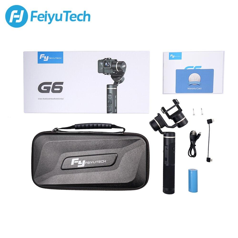 FeiyuTech Feiyu G6 3-Axis cámara de acción de mano cardán estabilizador pantalla OLED para Gopro Hero 7 6 5 Sony RX0 Yi cam 4K - 6