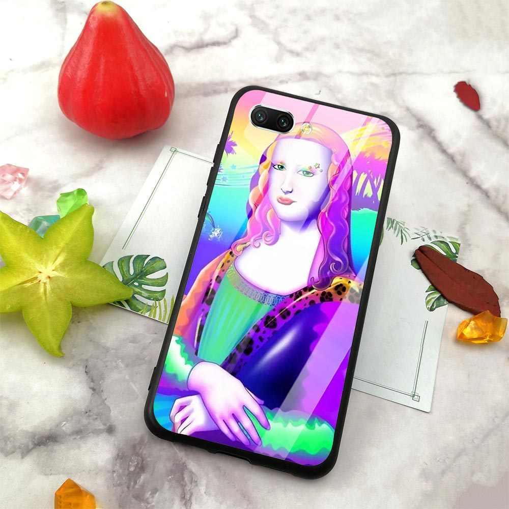 Slim Mona Lisa de vidrio templado de la cubierta del teléfono para Huawei P10 Lite 10 7A Y6 Y9 Honor 9 P20 P smart Mate 20 Pro suave