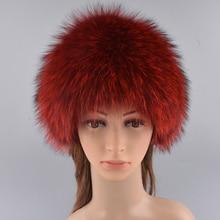 Winter Fur Hats Girls Good Qualit Genuine Fox Fur Knitted Cap Silver Fox Fur Caps Female Russian Fur Hats Women's Winter Hats